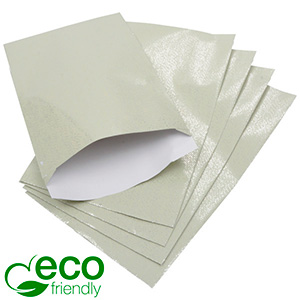 500 Paper Jewellery Bags, Large Pistachio Green Paper with Tiny Silver Specks 120 x 180 76 gsm