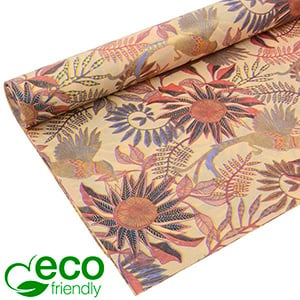 Eco-Friendly Tissue paper, 240 sheets Multi colour with flower pattern 750 x 500 24 gsm