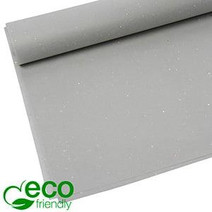 Milieuvriendelijk Zijdevloeipapier, 240 vellen Met glitters, Licht Grijs 700 x 500 17 gsm