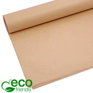 Milieuvriendelijk Zijdevloeipapier, 240 vellen Met glitters, Beige 700 x 500 17 gsm