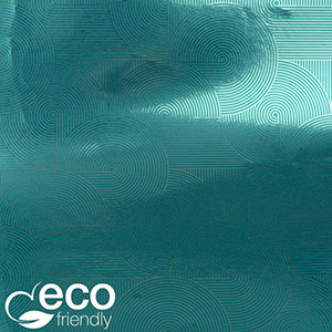 Milieuvriendelijk cadeaupapier nº 1035 ECO Petroleumkleurig papier met zilveren opdruk   30 cm - 100 m