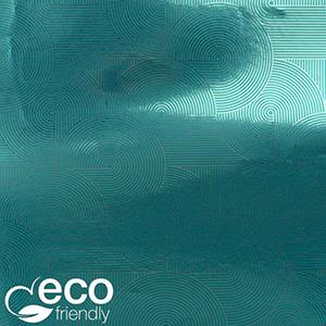 Milieuvriendelijk cadeaupapier nº 1035 ECO Petroleumkleurig papier met zilveren opdruk   50 cm - 100 m