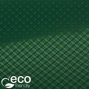 Milieuvriendelijk cadeaupapier nº 1665 ECO Donkergroen papier met grafische print  50 cm - 100 m - 80 g