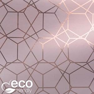 Miljøvenligt gavepapir 7350 ECO Rosa med grafisk print  50 cm - 100 m - 74 g