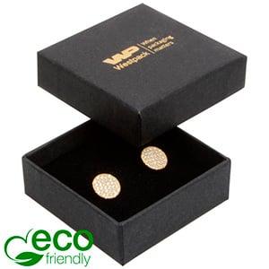 Storkøb -  Frankfurt Eco smykkeæske til ring Mat sort FSC®-certificeret karton/ Sort skum 50 x 50 x 17
