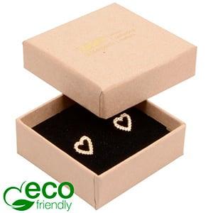 Storkøb -  Frankfurt Eco smykkeæske til ring Mat naturfarvet FSC®-certificeret karton/Sort skum 50 x 50 x 17