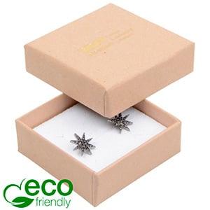 Storkøb -  Frankfurt Eco smykkeæske til ring Mat naturfarvet FSC®-certificeret karton/Hvid skum 50 x 50 x 17