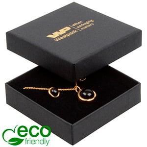 Storkøb -  Frankfurt Eco smykkeæske til vedhæng Mat sort FSC®-certificeret karton/ Sort skum 65 x 65 x 17