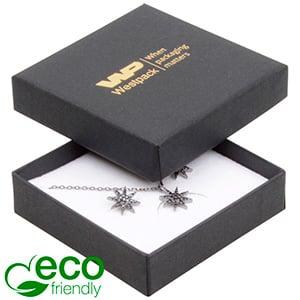 Storkøb -  Frankfurt Eco smykkeæske til vedhæng Mat sort FSC®-certificeret karton/ Hvid skum 65 x 65 x 17