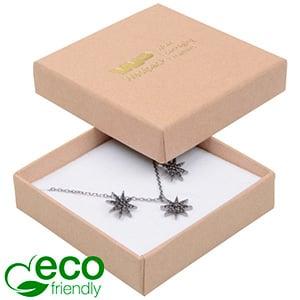 Storkøb -  Frankfurt Eco smykkeæske til vedhæng Mat naturfarvet FSC®-certificeret karton/Hvid skum 65 x 65 x 17