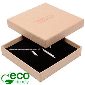 Storkøb -  Frankfurt Eco smykkeæske til halskæde Mat naturfarvet FSC®-certificeret karton/Sort skum 86 x 86 x 17