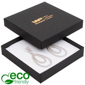 Storkøb -  Frankfurt Eco smykkeæske til halskæde Mat sort FSC®-certificeret karton/ Hvid skum 86 x 86 x 17
