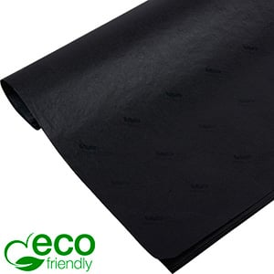 ECO-Friendly Tissue Paper with Print, small sheets Black with black print 350 x 500 17 gsm