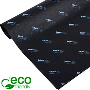 ECO-Friendly Tissue Paper with Print, small sheets Black with white print 350 x 500 17 gsm