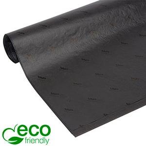 ECO Papier de soie avec logo,feuilles grande Noir avec impression noire 700 x 500 17 gsm