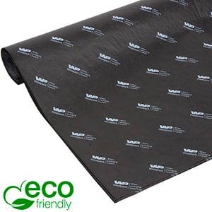 ECO Zijdevloeipapier m/bedrukking, grote vellen Zwart met wit bedrukking 700 x 500 17 gsm
