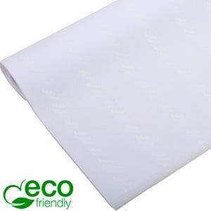 ECO Zijdevloeipapier m/bedrukking, grote vellen Wit met wit bedrukking 700 x 500 17 gsm