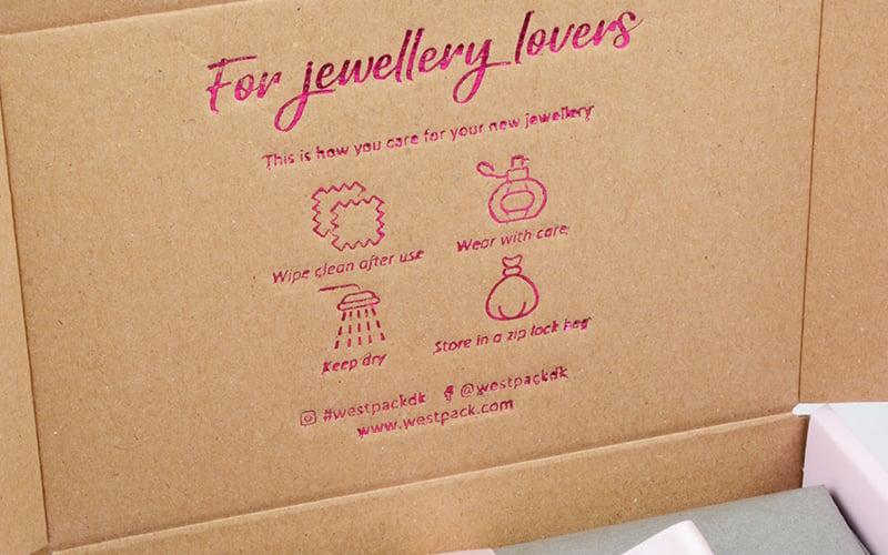 Tip: print a small greeting inside the postal box